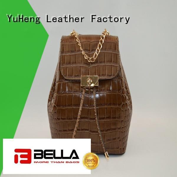 BELLA Brand contrast backpack shoulder bag pu ladies
